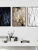 cheap -Wall Art Canvas Prints Feather Home Decoration Decor Rolled Canvas No Frame Unframed Unstretched