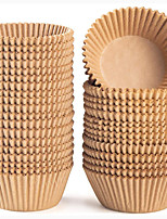 cheap -Standard Natural Cupcake Liners 500 Count No Smell Food Grade & Grease-Proof Baking Cups Paper