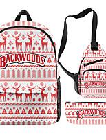 cheap -School Bag Christmas Daypack Bookbag Laptop Backpack with Multiple Pockets for Men Women Boys Girls 26*15*44/19.5*8*33/21*9cm