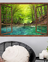 cheap -Green Forest Wall Stickers Bedroom Living Room Removable Pre-pasted PVC Home Decoration Wall Decal 1pc