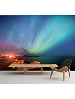 cheap -Mural Wallpaper Wall Sticker Covering Print  Peel and Stick  Removable Self Adhesive Natural Scenery With Gorgeous Northern Lights PVC / Vinyl Home Decor