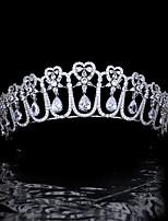 cheap -Antique HeadwearCrown Bride Wedding Wedding Retro Hair Accessories Zircon Crown Smart Super Flash High-end Wedding Jewelry