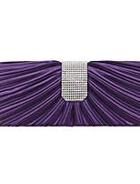cheap -Women's Bags Satin Evening Bag Buttons Plain Party / Evening Date Evening Bag Wine Purple Almond Silver