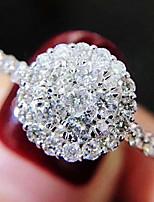 cheap -Women Ring AAA Cubic Zirconia Classic Silver Brass Love Luxury Elegant Fashion 1pc / Women's
