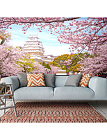 cheap -Mural Wallpaper Wall Sticker Covering Print  Peel and Stick Removable Self Adhesive Pink Beautiful Flowers PVC / Vinyl Home Decor