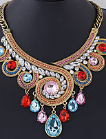 cheap -Statement Necklace Women's Geometrical Multicolor Pear Vintage Oversized Cool Rainbow 46+7 cm Necklace Jewelry 1pc for Christmas Street Carnival Club irregular