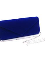 cheap -Women's Bags Velvet Evening Bag Rivet Plain Party / Evening Date Evening Bag Blue Purple Yellow Black