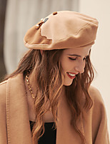 cheap -Elegant Cute Flannel Hats with Button / Splicing 1pc Wedding / Tea Party Headpiece