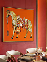 cheap -Wall Art Canvas Prints Animals Horse Home Decoration Decor Rolled Canvas No Frame Unframed Unstretched