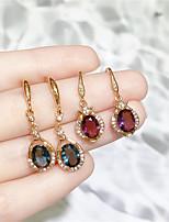 cheap -Women's Stud Earrings Drop Earrings Hoop Earrings Classic Joy Fashion Classic Modern Korean Sweet Rose Gold Plated Earrings Jewelry Purple / Blue For Party Street Gift Daily Holiday 1pc