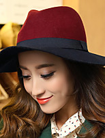 cheap -Elegant Retro Wool Hats with Split Joint / Bandage / Color Block 1pc Casual / Holiday Headpiece