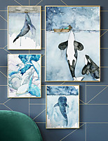 cheap -Wall Art Canvas Prints Painting Artwork Picture Animal Sea Whale Home Decoration Dcor Rolled Canvas No Frame Unframed Unstretched