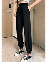 cheap -Women's Casual / Sporty Streetwear Comfort Sweatpants Loose Leisure Sports Weekend Pants Plain Full Length Pocket Elastic Drawstring Design Blushing Pink Gray Black Beige