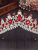 cheap -Crown Tiara Bride Wedding Dress Wedding Accessories Gold Luxury Fashion Atmosphere Birthday Crown Headband