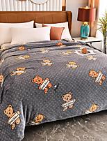 cheap -Blankets & Throws, Cartoon / Animal Flannel Toison Warmer Soft Comfy Blankets