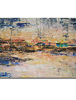 cheap -Oil Painting Handmade Hand Painted Wall Art Abstract Knife PaintingYellow Landscape Home Decoration Decor Rolled Canvas No Frame Unstretched