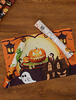 cheap -halloween easter pvc woven teslin placemat holiday decoration insulation table mat pumpkin coaster