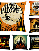 cheap -Halloween Double Side Cushion Cover 6PC Soft Decorative Square Throw Pillow Cover Cushion Case Pillowcase for Bedroom Livingroom Superior Quality Machine Washable Indoor Cushion for Sofa Couch Bed Chair