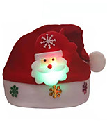 cheap -Women's Party Hat Home Christmas Party Glitter Deer Snowman Red Hat