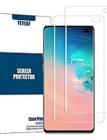 cheap -galaxy s10 plus screen protector + camera lens protector by ye, [2 pack + 2 pack] [new version] [touch sensitive] [fingerprint compatible] [case friendly] for samsung galaxy s10 plus