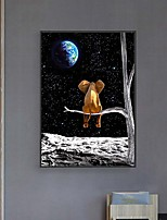 cheap -Wall Art Canvas Prints elephant moon tree Home Decoration Decor Rolled Canvas No Frame Unframed Unstretched