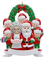 cheap -2021 Christmas Tree Decoration Pendant Resin Snowman Family Christmas Tree DIY Family Tree Decoration Pair Of Christmas Pendants
