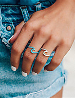cheap -Ring Geometrical Blue Pink White Platinum Plated Alloy Music Notes Stylish 1pc 7 / Women's