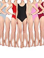 cheap -Gymnastics Leotards Tank Leotard Women's Girls' Kids Bodysuit Spandex High Elasticity Quick Dry Breathable Sweat wicking Solid Color Sleeveless Training Competition Ballet Dance Rhythmic Gymnastics