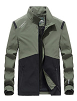cheap -Men's Hiking Jacket Hiking Windbreaker Military Tactical Jacket Outdoor Thermal Warm Windproof Lightweight Breathable Outerwear Trench Coat Top Skiing Fishing Climbing Black Dark Gray Army Green Dark
