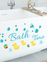 cheap -Bath Colorful Duck Bubble Can Remove Personalized Wall With Bathroom Glass Door Bathroom Background Decoration