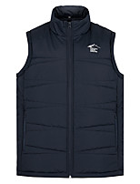cheap -Men's Vest Gilet Daily Going out Winter Short Coat Zipper Stand Collar Regular Fit Breathable Casual Jacket Sleeveless Plain Pocket Blue Gray Royal Blue