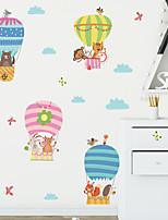 cheap -cartoon animal hot air balloon children's bedroom porch wall beautification decorative wall sticker self-adhesive