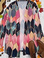cheap -Women's Jacket Halloween Daily Fall Winter Regular Coat Regular Fit Warm Casual Jacket Long Sleeve Print Print Blue Blushing Pink Dusty Rose