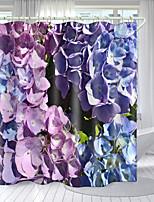 cheap -HD Simulation Flower Series Digital Printing Shower Curtain Shower Curtains  Hooks Modern Polyester New Design