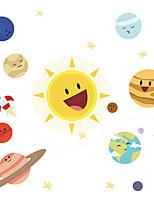 cheap -cartoon sun universe rocket children's bedroom porch commercial wall beautification decorative wall stickers