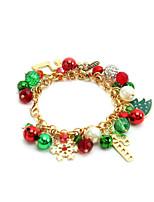 cheap -Women's Pendant Bracelet Classic Christmas Tree Stylish Alloy Bracelet Jewelry Rainbow For Christmas Festival