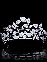 cheap -Super Fairy Forest Leaves Flowers Hair Accessories Micro-inlaid Zircon Bride Wedding Crown Headdress Wedding Accessories
