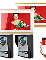 cheap -Wired RFID 7 inch One to Four more video doorphone