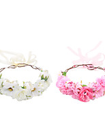 cheap -1 Piece Seaside Holiday Wreath Children's Simulation Flower Headband Travel Photo Props Handmade Headdress