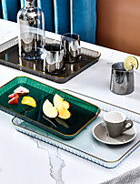cheap -Nordic Tray Tea Cup Water Cup Tray Living Room Coffee Table Transparent Tray Rectangular Dinner Plate