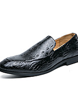 cheap -Men's Loafers & Slip-Ons Business Classic Daily PU Breathable Black Brown Fall