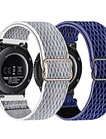 cheap -22mm nylon elastic watch bands compatible with samsung galaxy watch watch 46mm/galaxy watch 3 45mm/gear s3 classic/gear2 r380/live r382 , adjustable breathable stretchy wristband, 2 pack