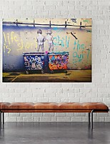 cheap -Wall Art Canvas Prints Painting Artwork Picture Children Banksy Street Graffiti Home Decoration Decor Rolled Canvas No Frame Unframed Unstretched