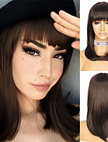 cheap -HAIR Short Bob Wig With Bangs for Women Synthetic Bob Wigs Black Brown Wig for Party Daily Use Shoulder Length
