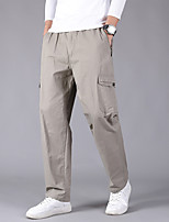 cheap -Men's Hiking Pants Trousers Winter Summer Outdoor Regular Fit Quick Dry Breathable Sweat wicking Cotton Pants / Trousers Yellow Grey Dark Gray Khaki Black Fishing Climbing Camping / Hiking / Caving M