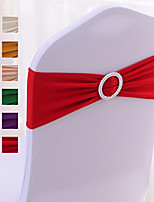"""cheap -10PCS Spandex Chair Sashes Bows Elastic Chair Bands with Buckle Slider Sashes Bows for Wedding Decorations 36*15cm/14""""*6"""""""