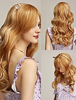 cheap -Rebcass Synthetic Wig Wavy Bouncy Curl  Free Part Wig  Light golden Synthetic Hair 24 inch for Women Fashionable Design Soft Heat Resistant Free Cap