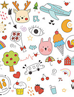 cheap -cartoon animal and plant elements airplane moon children's bedroom wall decoration wall stickers self-adhesive