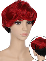 cheap -Synthetic Wig Curly Wavy Short Bob Side Part Wig Short A1 A2 A3 A4 A5 Synthetic Hair Women's Cosplay Soft Party Black Brown