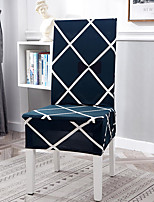 cheap -Stretch Kitchen Chair Cover Slipcover for Dinning Party Geometric Plaid Four Seasons Universal Super Soft Fabric Retro Hot Sale